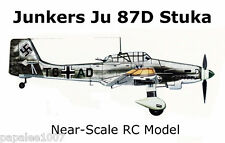 "Model Airplane Plans: Junkers Ju 87D Stuka 41"" RC for 1.5 to 2.5cc Engine"