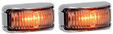 2 LED AMBER MARKER LIGHTS TRUCK TRAILER UTE CAB  42CAM