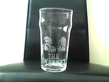 The Sweeney Engraved Etched Pint Beer  Glass