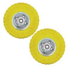 "2 x10"" Solid Rubber Tyre Wheel Foam Filled Sack Truck Trolley Cart AN002_PAIR"