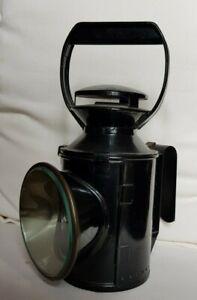 Vintage BR BRITISH RAIL Hand Signal Oil Lamp Railway Lantern Red, Blue, Clear