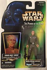 Star Wars GRAND MOFF TARKIN POTF Green Card w/ Hologram ANH Figure '97 NewOnCard
