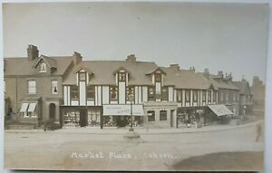 Market Place, Askern. Postcard.