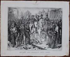 Risorgimento, Napoléon III, Rome, Litho, litografia, Roma, stampa, XIXe,19th.