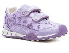 Chicas Cierre Táctil Zapatillas Geox J52G2D Lila UE tamaño 35 (tamaño de Reino Unido 2.5)