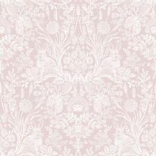 Harlen Woodland Damask Wallpaper Dusky Pink - Holden 90161