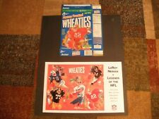"""WHEATIES leroy neiman's legends of the NFL, 11"""" X 17"""" poster & ronnie lott box"""