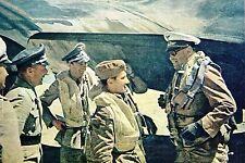 WW2 - Aviation - Le Maréchal Kesserling visite les unités de la Luftwaffe en AFN