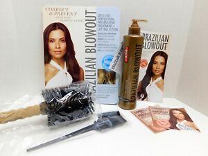 Brazilian Blow Out Split End Repair Kit W/Boar Brush & 12 oz. Correction Lotion
