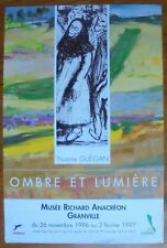 affiche d'Exposition.Yvonne Guégan.Ombre et Lumière.Granville,1997
