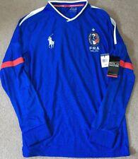 RALPH LAUREN POLO SPORT FRANCE Pony Drop-aiguille Football shirt L