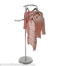 Spiral Clothing Garment Retail Display Rack with 29 Retaining Studs | CHROME