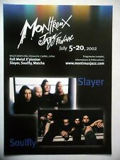 PUBLICITE-ADVERTISING :  MONTREUX 2002  Slayer,Soulfly