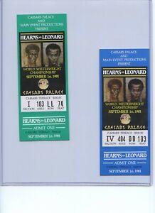 3 - Sugar Ray Leonard Thomas Hearns 1981 boxing tickets