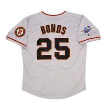 Barry Bonds San Francisco Giants 2002 World Series Road Jersey para hombre (M-2XL)