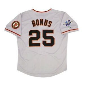 Barry Bonds San Francisco Giants 2002 World Series Road Jersey Men's (M-2XL)