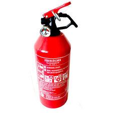 Autofeuerlöscher Feuerlöscher Pulver 1kg ABC Pulver  mit Halterung + Manometer
