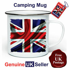 Union Jack Camping Mug, Hiking Mug, Union Jack Mug, Outdoor Mug, Tin Mug,