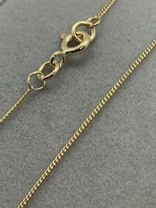 "9ct Yellow Gold Close Curb Chain 24"" / 60cm Neck Chain (G10FC)"