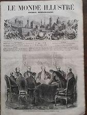 LE MONDE ILLUSTRE 1858 N 89 COMITE DES MARECHAUX, TABLEAUX D'AVANCEMENT D' ARMEE