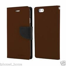 Genuine Mercury Goospery Brown & Black Flip Case Wallet Cover for iPhone 6/6s
