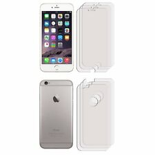 """3 FRONT +3 BACK Clear LCD Screen Protector Film Foil For Apple iPhone 6 (4.7"""")"""