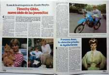 TIMOTHY GIBBS => 2 pages 1985 SPANISH CLIPPING (FREE SHIPPING !!!
