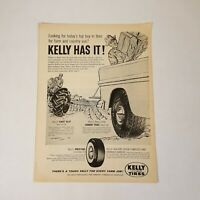 Vintage Kelly Springfield Tires 1958 Print Advertising Magazine Auto Parts Ad