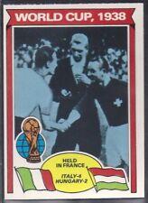 TOPPS-FOOTBALL (ORANGE BACK 1978)-#339- WORLD CUP  1938