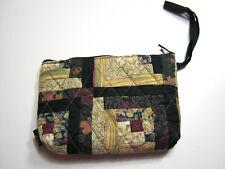 "Womens Quilt Cotton Wallet Zip Around Bifold Multi Color 7"" x 5"""