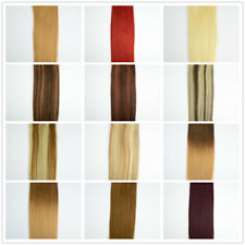 """18"""" Full Head Remy 100% Human Hair Extensions Silky Weave,21 Colours, UK SELLER"""