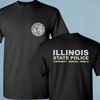New Illinois State Police Department Academy SWAT Black T-Shirt