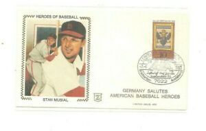 1983 Z-cachet cover Germany Salutes American Baseball Heroes Stan Musial