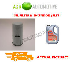 PETROL OIL FILTER + FS 5W40 ENGINE OIL FOR FORD ORION 1.6 90 BHP 1992-93
