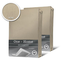 2er Pack Spannbettlaken Bettlaken beige taupe 90x200 cm - 100x200 cm Jersey set