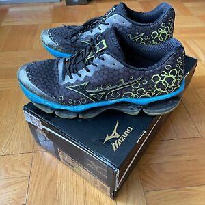 Size 12   Mizuno Wave Prophecy 3   Black/Blue/Yellow   Running   Retail $210
