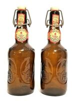 2-Vintage Altenmunster West German Beer Bottles Flip Top Ceramic Cap 1980's