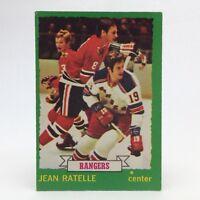 1973 74 OPC O Pee Chee Jean Ratelle 141 New York Rangers Hockey Card E670