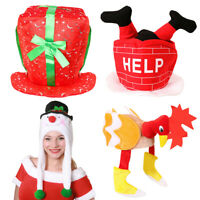 NOVELTY CHRISTMAS HATS 4 PACK XMAS FANCY DRESS PARTY OFFICE WORK NOVELTY HAT