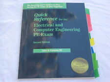 QUICK REFERENCE FOR ELECTRIC & COMPUTER ENGINEER PE EXAM 2ND ED. BY JOHN CAMARA~