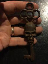 Victorian Skull Key Vintage Antique style NR Heavy Cast Iron Metal Sale