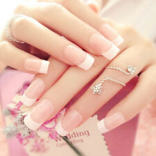 24 Manicure White Long French Style False Tips Fake Nails Stickers NEW HOT Pop