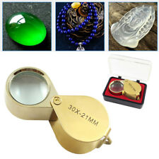 30 x 21mm Pocket Jewellers Glass Magnifying Magnifier Jeweler Eye Jewelry Loupe