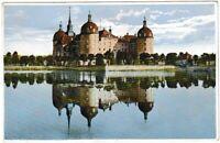 Ansichtskarte Jagdschloss Moritzburg - Blick auf das Schloss mit Teich -sehr alt