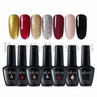 7 Colors Soak Off UV LED Glitter Gel Nail Polish Set Manicure Nail Art Kit 15ml