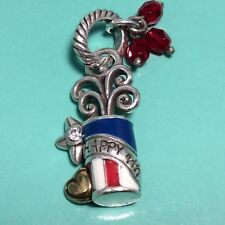 July Fireworks Charm Nwot Brighton Silver/Red/Blue/White 4th Of