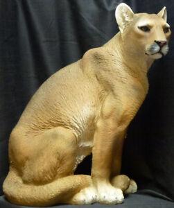 "GHOST CAT  Mountain Lion Statue Figurine DWK H21"""