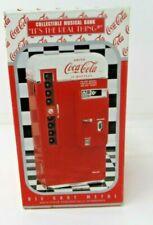 Vintage 1994  Coca Cola Metal Vending Machine Musical Bank by Vendo  - M-608