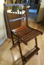 Antique Gold Medal Folding Furniture Company Director Chair EXCELLENT CONDITION!