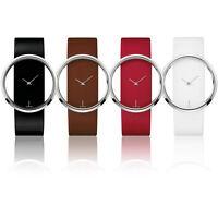 Fashion Luxury Transparent Leather Analog Quartz Girl Women Ladies Wrist Watch T